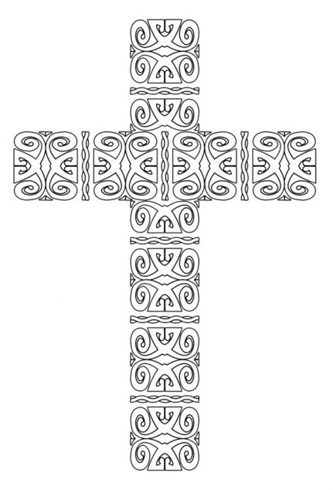 coloring page cross free coloring pages of cross for adults