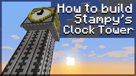 How To Make A Tower With One Of Paper - how to build sty s clock tower 1 4 minecraft