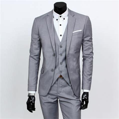 mens light gray dress 2016 mens light grey suits jacket formal dress