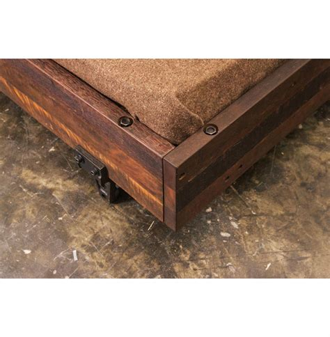 reclaimed wood king bed colby reclaimed wood industrial loft king bed with side
