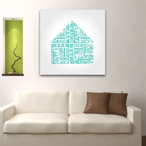 wall paintings name shape house personalised canvas wall art canvas
