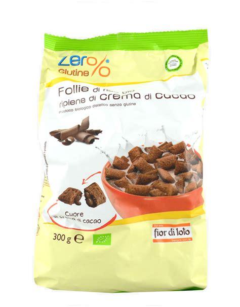 fior di cacao zero glutine follie di riso bio ripiene di crema di