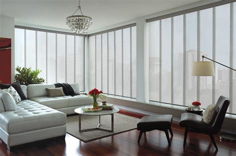 modern window coverings for large windows window treatments