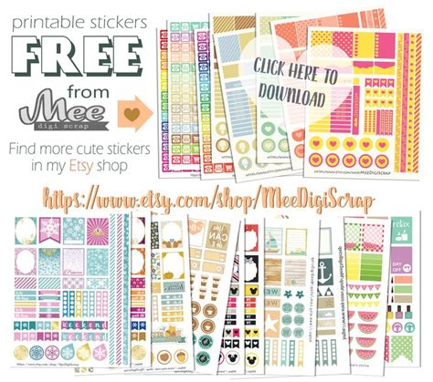 printable stickers journal freeprintableplannerstickers freeplannerstickers