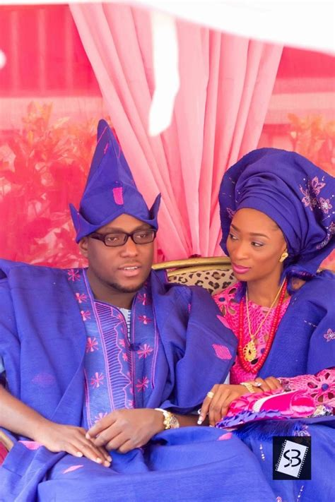 yoruba native dress blue and pink yoruba traditional wedding attire nigerian