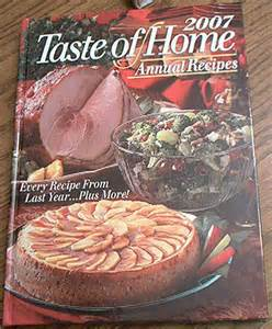 taste of home 2007 annual recipes hc book cookbook