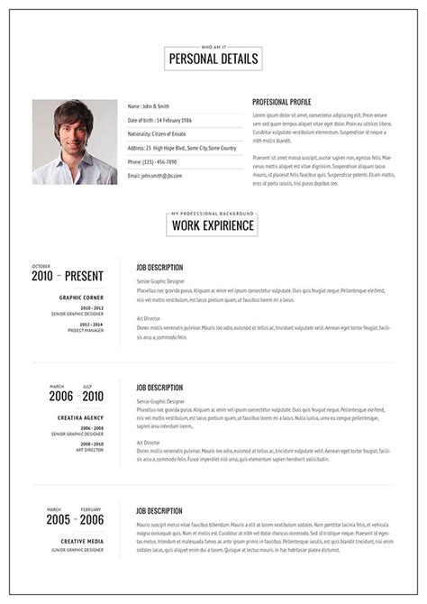 template cv pages free 20 intriguing online resume templates web graphic