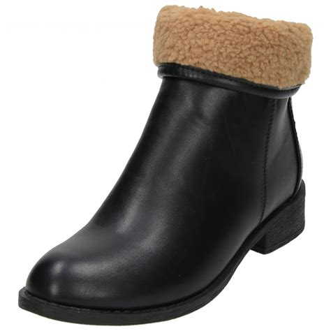 koi couture flat ankle boots fur cuff zip fastening koi