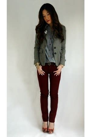 Blazer Zara Maroon brown zara blazers maroon topshop quot workwear