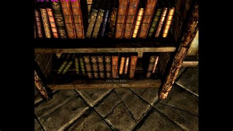 skyrim bug bookshelf container inventory loss
