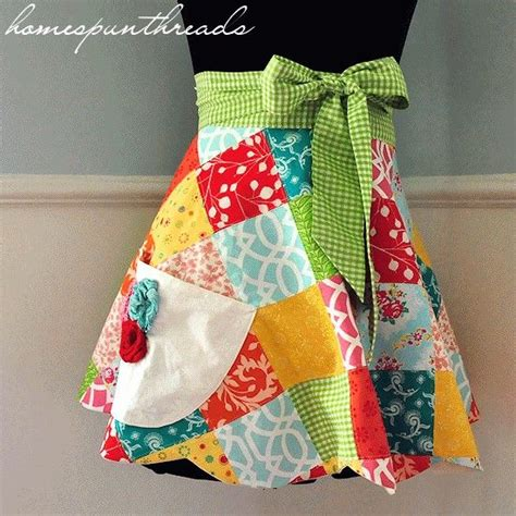 Patchwork Apron Pattern - skirt fashion gift cards and patterns on