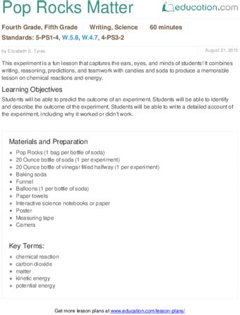 4th Grade Research Paper Lesson by Lesson Plans For Fourth Grade Science Education