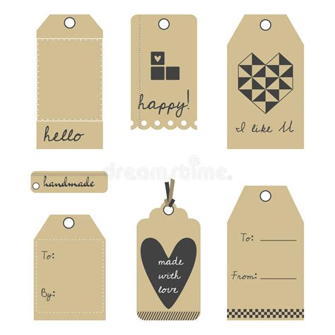 gift vector label elements webbyarts vector gift tags or labels set stock vector illustration