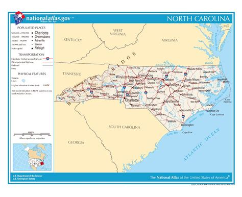 map usa carolina maps of carolina state collection of detailed maps