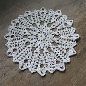 crochet doily lace doilies table decoration folksy