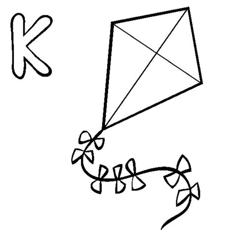 free printable coloring page of a kite kite coloring pages free large images