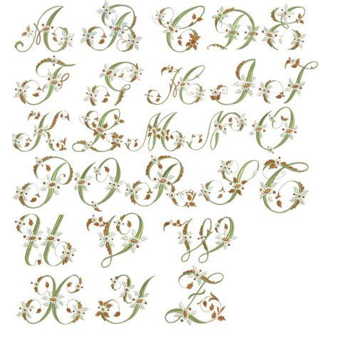 Design Lettre De L Alphabet Motif Broderie Machine Alphabet Fleurs Font Embroidery Design