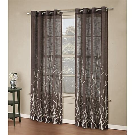 Kitchen And Bath Alton Alton Print Grommet Window Curtain Panel Www