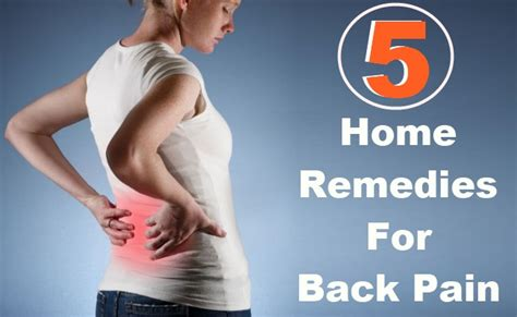 Home Remedies Back by 5 Home Remedies For Back Diy Health Remedy