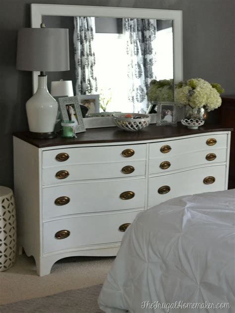 Bedroom Dresser Top Decor Painted Dresser And Mirror Makeover Master Bedroom Furniture