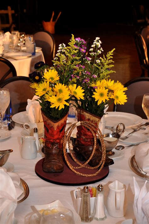 Boot Centerpiece   Entertainment & decor by Sixth Star Enter   Flickr