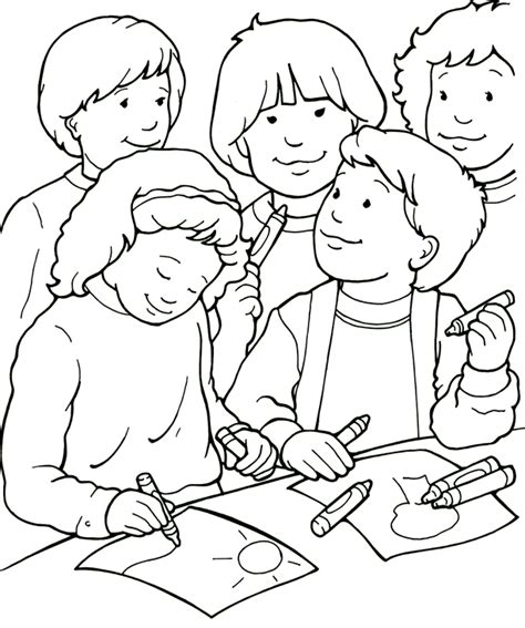 Coloring Pages Friends i can be a friend coloring page sermons4kids