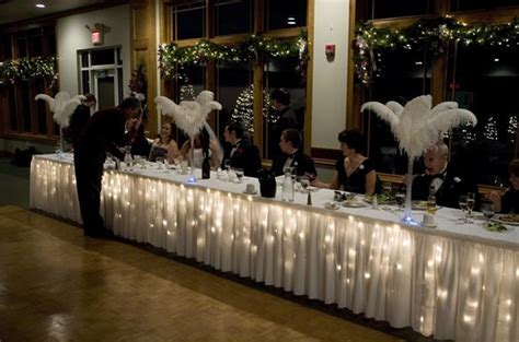 Icicle Lights under a table cloth is a great idea for New