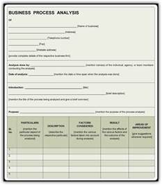 business process assessment template business process analysis template free pdf sle