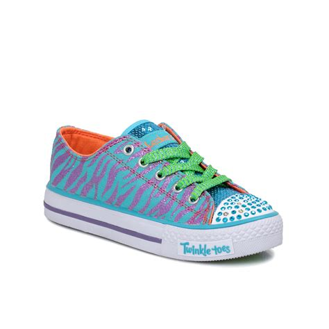 twinkle toes shoes for skechers twinkle toes turquoise purple black tiger stripe