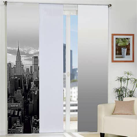 Wohnideen New York home wohnideen schiebevorhang new york schwarz wei 223