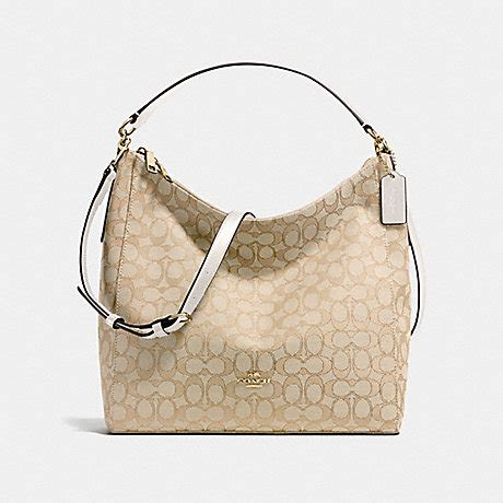 Coach Celeste Hobo Sign Khaki Chalk 2 coach f58327 celeste convertible hobo in outline signature handbags coach anyhandbag