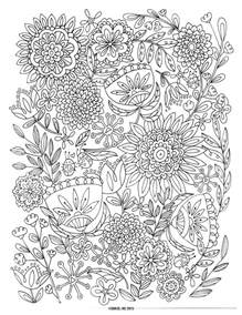 flower coloring pages for adults 9 free printable coloring pages pat catan s