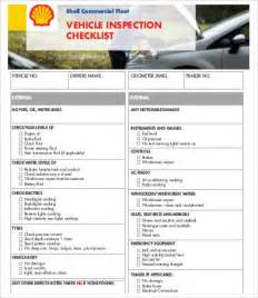 Vehicle Safety Checklist Template by Vehicle Checklist Templates 9 Free Pdf Documents