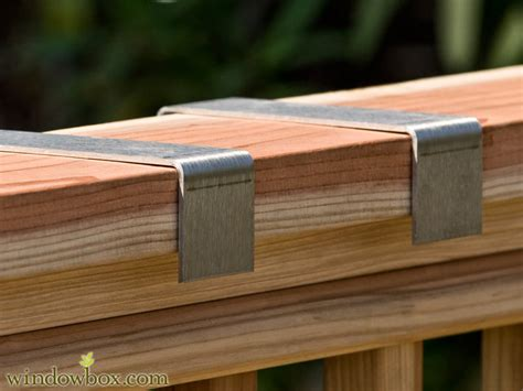 the rail window boxes stainless steel balcony bracket pairs brackets for deck