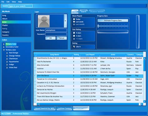 wpf ui templates xceed pro themes for wpf xceed
