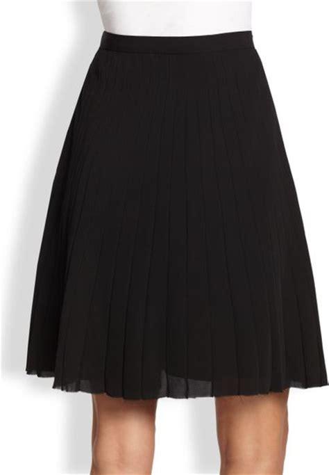 theory alcine pleated aline skirt in black lyst