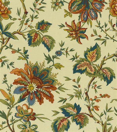 coordinating fabrics for home decor home decor print fabric waverly felicite cream jo ann