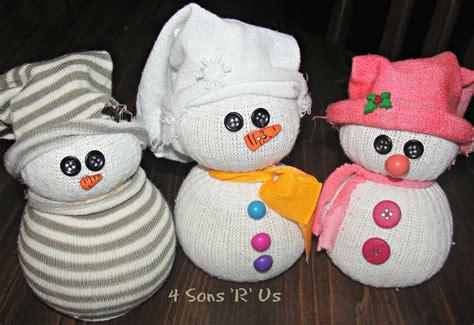 sock snowmen buy the sock snowman tutorial 4 sons r us