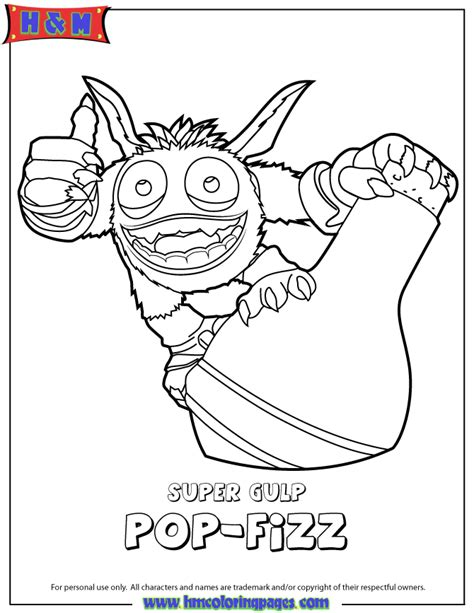 pop fize free colouring pages