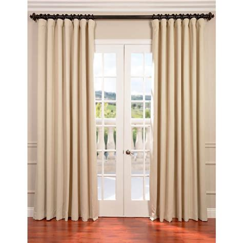 Ivory Blackout Curtains Exclusive Fabrics Furnishings Eggnog Ivory Doublewide Blackout Curtain 100 In W X 108 In L