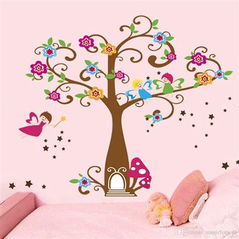 Tree Murals For Walls little elf magic tree house wall decal stickers decor for