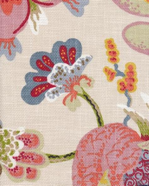 Modern Floral Upholstery Fabric by Bark Cloth Land Modern Bold Floral Textured Large