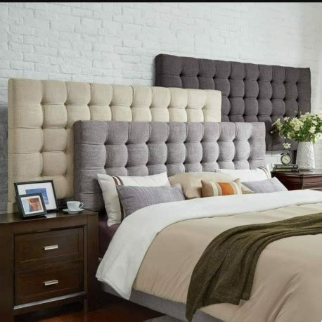cabecero cama tapizado moderno canada deluxe  cm las
