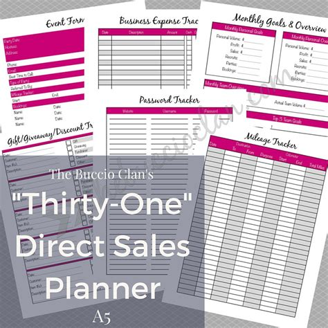 printable order form for thirty one thirty one planner thirty one direct sales planner a5