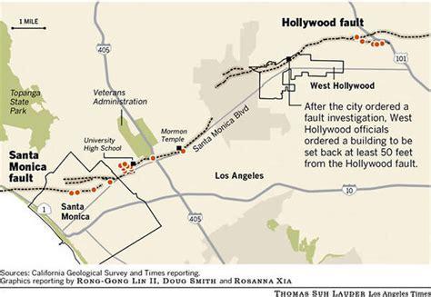 louisiana fault map l a santa buildings may sit atop quake faults