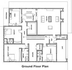 Floor Plan House by Ghana House Plans Chaley House Plan
