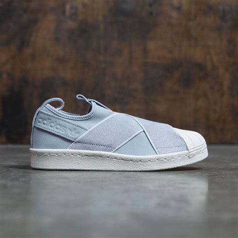 adidas superstar slip on gray onix white