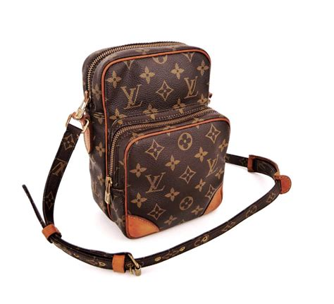 louis vuitton amazon brown monogram canvas leather cross