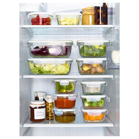 Ikea Food Container f 214 rtrolig food container clear glass 0 4 l ikea