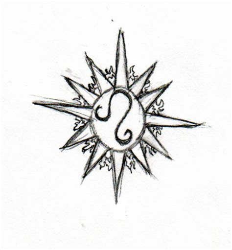 tattoo designs for leo star sign sun and leo zodiac design tattooshunt